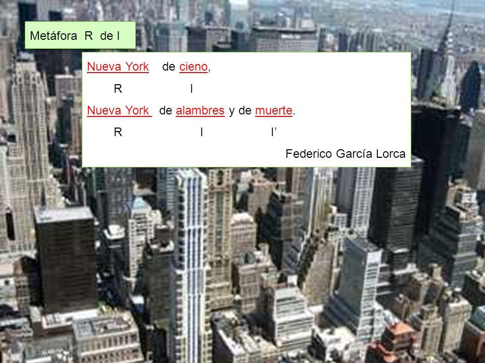 Nueva York de cieno, R I Nueva York de alambres y de muerte.