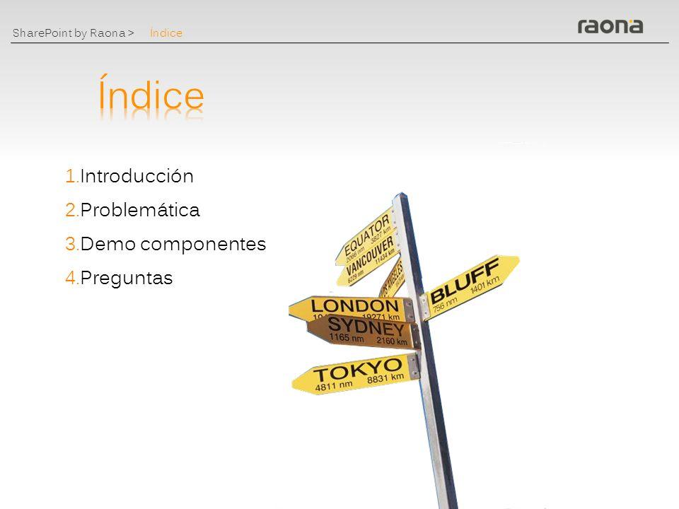 SharePoint by Raona > Exprime tu MOSS www.raona.com PABLO.PERIS@RAONA.COM Pablo Peris