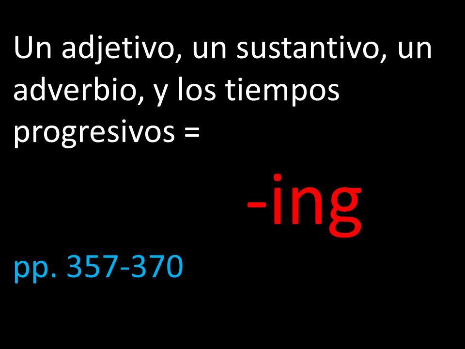 Ejercicios del libro de texto A.(P. 361) Infinitivos y sustantivos.