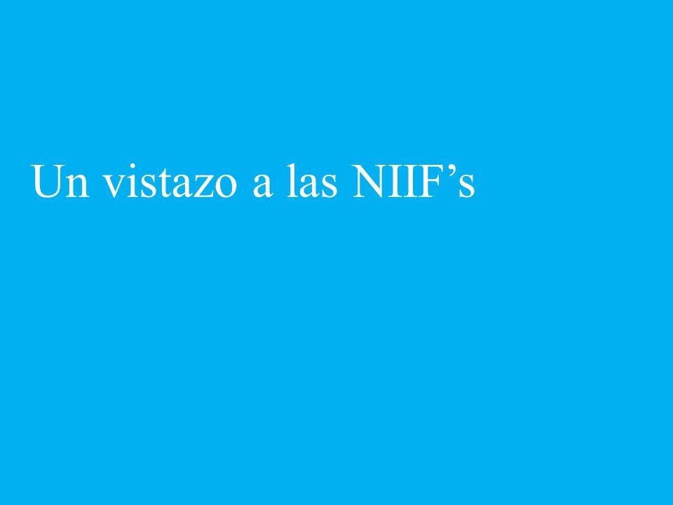 Un vistazo a las NIIFs