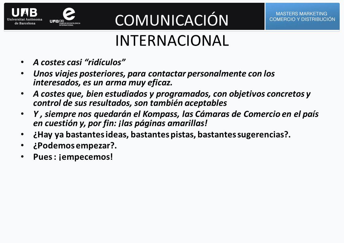 COMUNICACIÓN INTERNACIONAL ¿Qué factores hemos de tener en cuenta en la estandarización del producto en los mercados internacionales.
