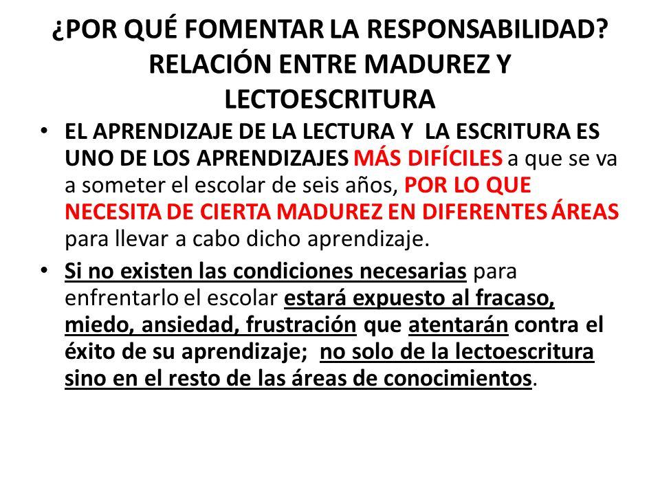 ¿ CUÁLES SON LOS FACTORES QUE SE DEBEN DESARROLLAR PARA ALCANZAR LA MADUREZ PARA APRENDER A LEER Y ESCRIBIR.