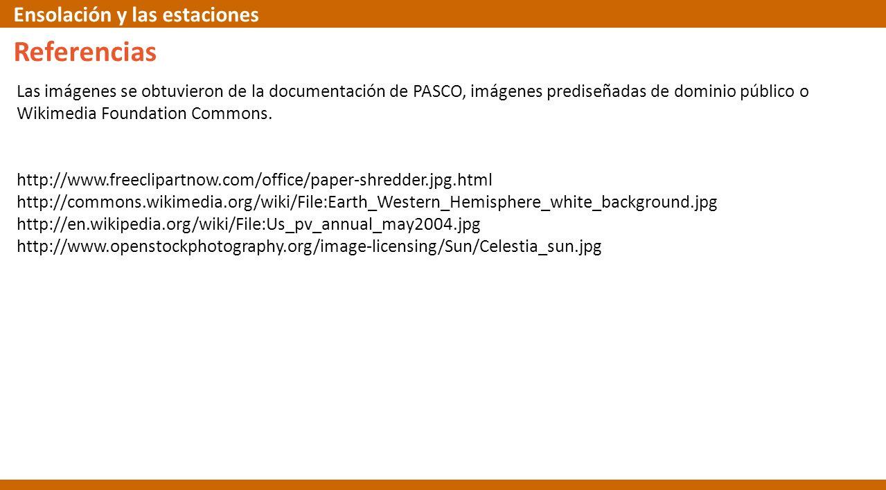 Las imágenes se obtuvieron de la documentación de PASCO, imágenes prediseñadas de dominio público o Wikimedia Foundation Commons. http://www.freeclipa