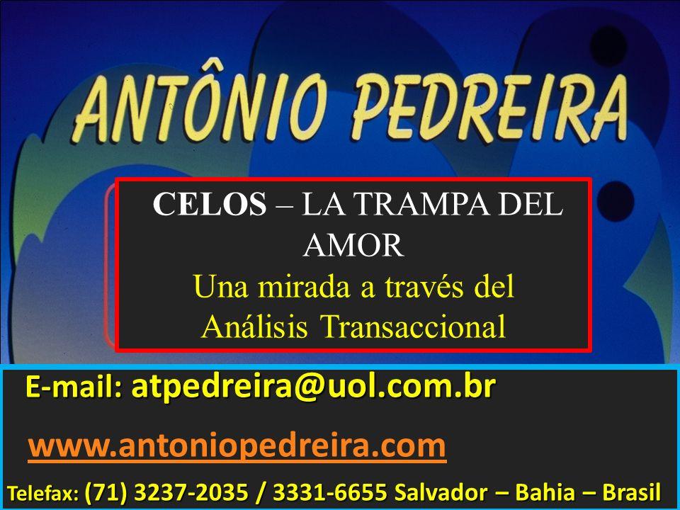E-mail: atpedreira@uol.com.br E-mail: atpedreira@uol.com.br www.antoniopedreira.com Telefax: (71) 3237-2035 / 3331-6655 Salvador – Bahia – Brasil CELO
