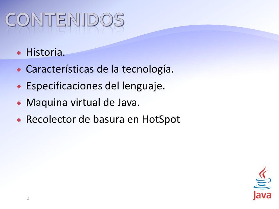 Historia.Características de la tecnología. Especificaciones del lenguaje.