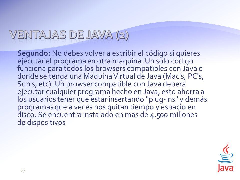 Segundo: No debes volver a escribir el código si quieres ejecutar el programa en otra máquina.
