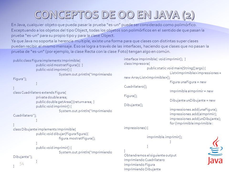 En Java, cualquier objeto que pueda pasar la prueba es-un puede ser considerado como polimórfico.