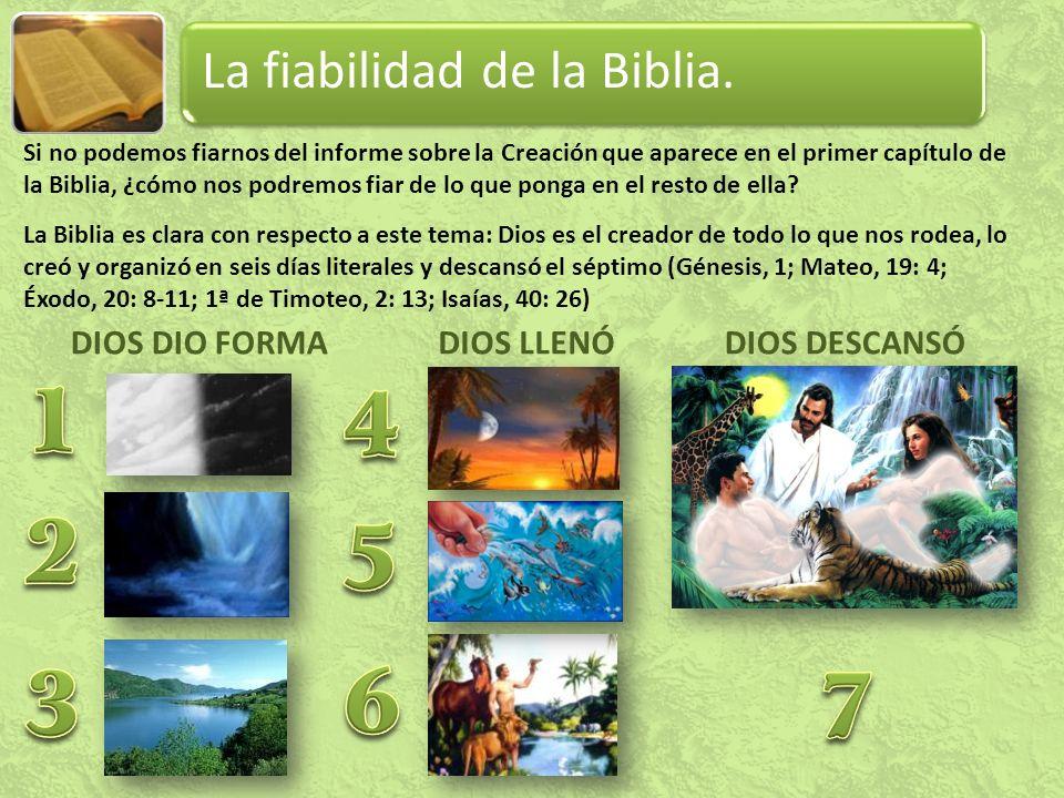 La fiabilidad de la Biblia.