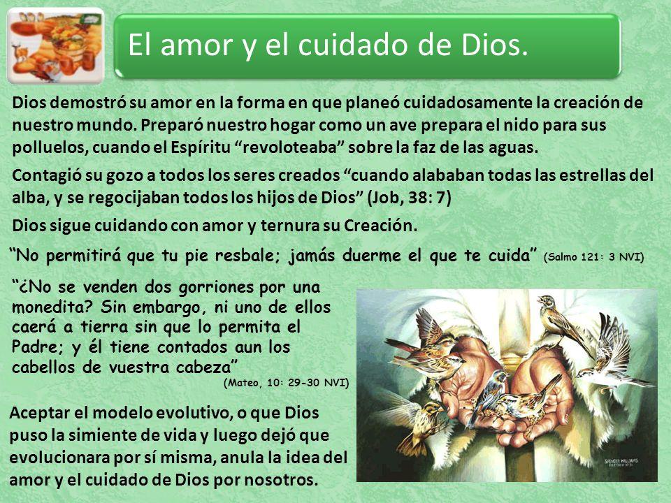 El amor y el cuidado de Dios.