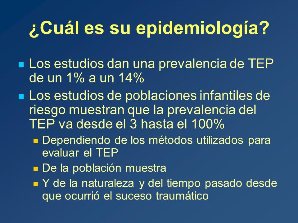 ¿Cuál es su epidemiología.