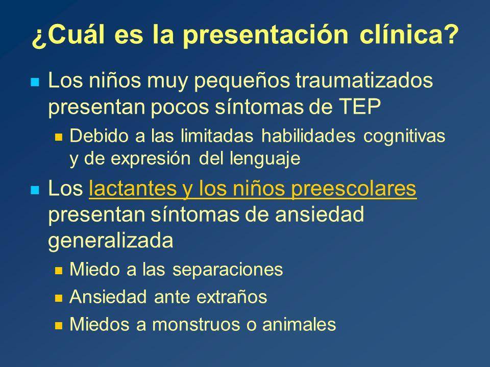 ¿Cuál es la presentación clínica.