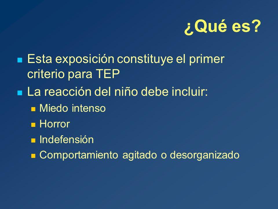 ¿Cuál es el curso natural del TEP.