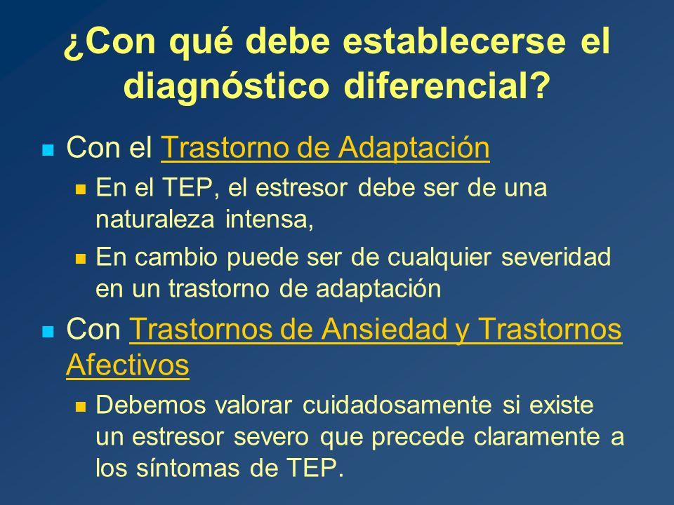 ¿Con qué debe establecerse el diagnóstico diferencial.