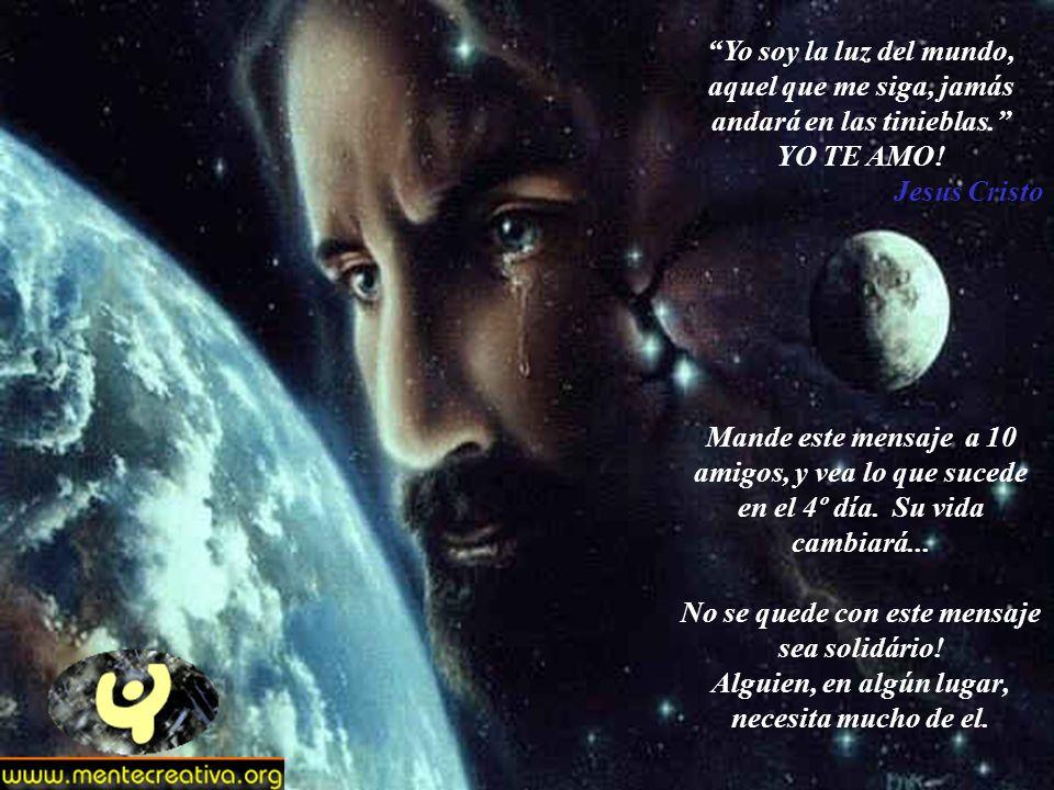 Ningún Padre de este mundo, Abandona un hijo, Acepta entonces las pruebas a que te someto, Éstas solo serviran, para engrandecer tu espíritu, Y te vol