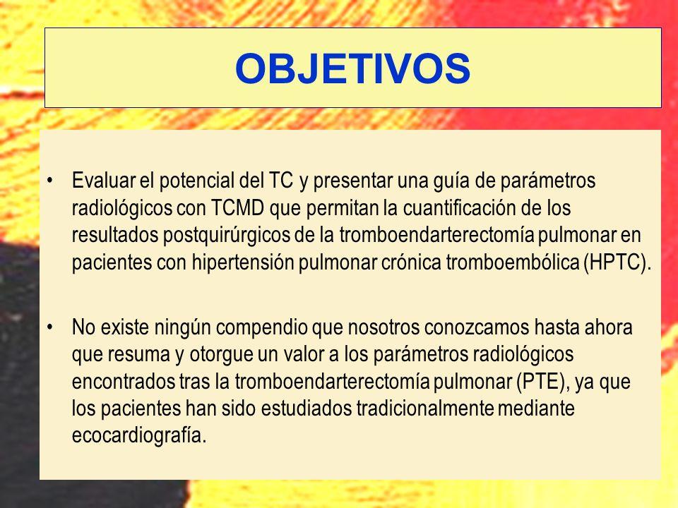 Evaluar el potencial del TC y presentar una guía de parámetros radiológicos con TCMD que permitan la cuantificación de los resultados postquirúrgicos