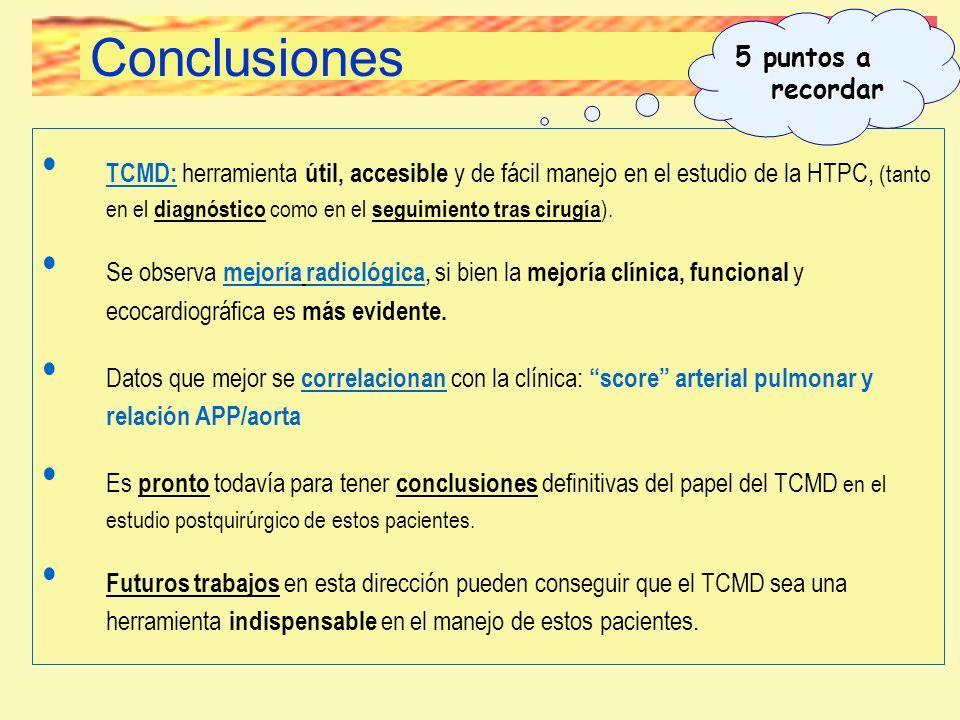 TCMD: herramienta útil, accesible y de fácil manejo en el estudio de la HTPC, (tanto en el diagnóstico como en el seguimiento tras cirugía ). Se obser