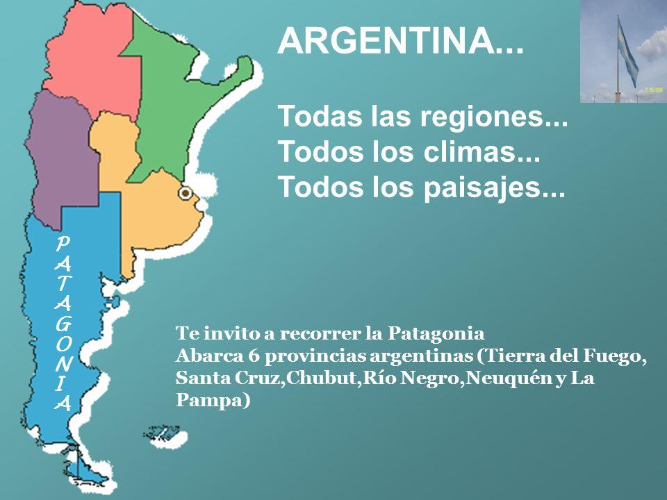 ARGENTINA...Todas las regiones... Todos los climas...
