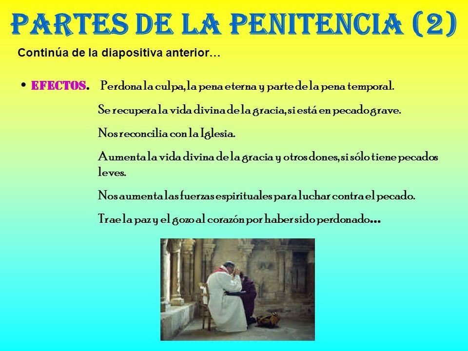 Materia de la Confesión. Partes de la Penitencia (1) Forma. Las palabras de absolución: Yo te absuelvo de tus pecados en el nombre del Padre … Ministr