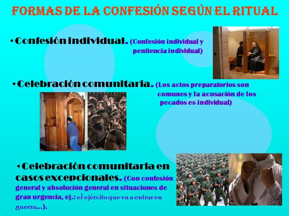 La Confesión individual hecha al sacerdote, si hay pecados mortales, más la absolución sacramental, sigue siendo el medio ordinario para reconciliarse