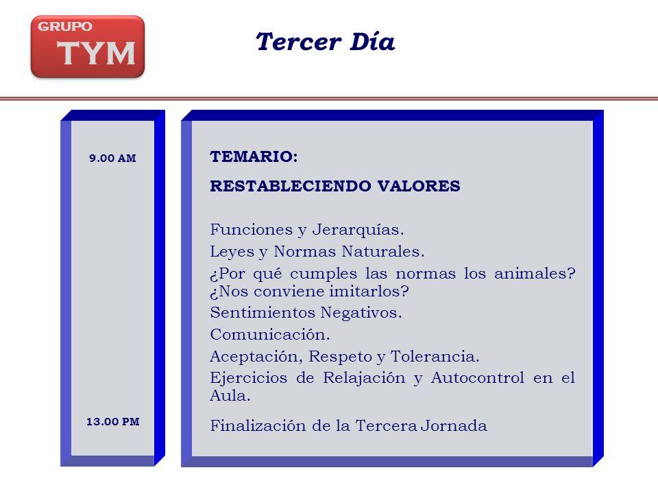 TEMARIO: RESTABLECIENDO VALORES Funciones y Jerarquías.