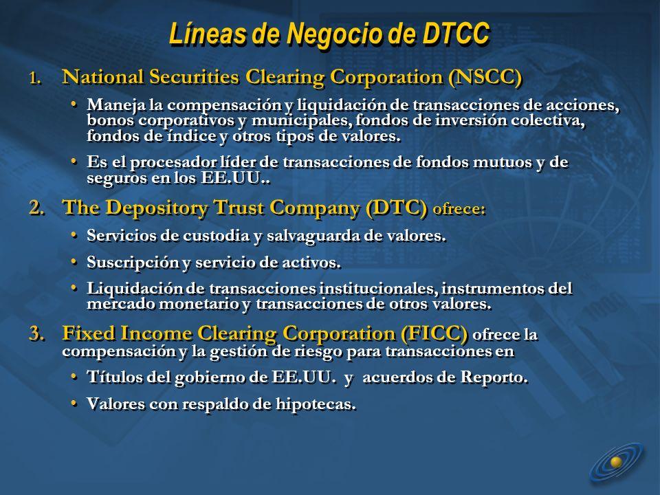 Líneas de Negocio de DTCC 1.
