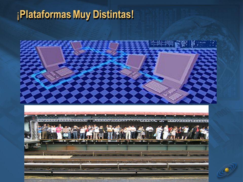 ¡ Plataformas Muy Distintas!