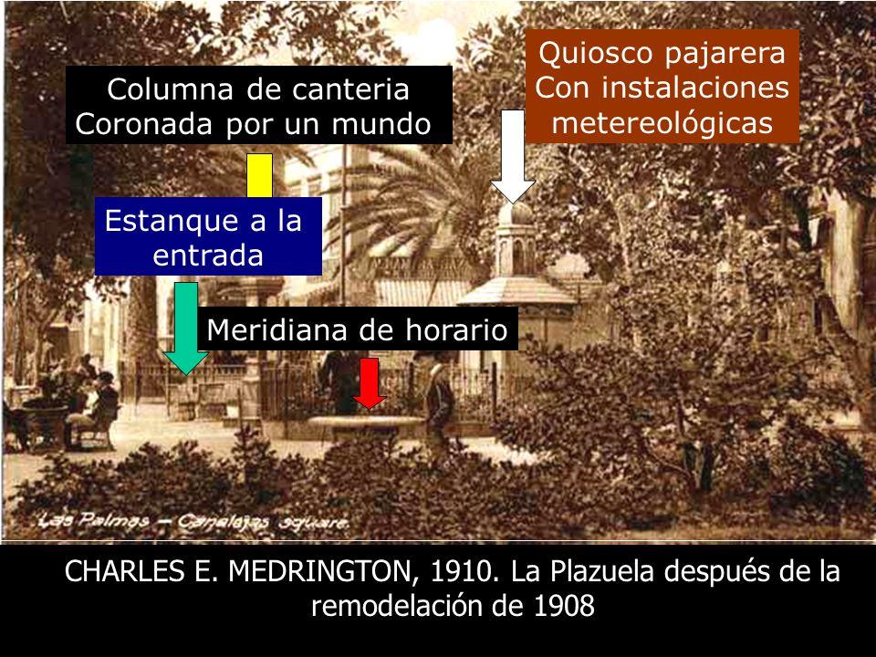 Veamos como la describen en una Guía de la Ciudad publicada en 1911: Plaza de la Democracia, reformada desde 1908, con artísticos jardines y grupos de