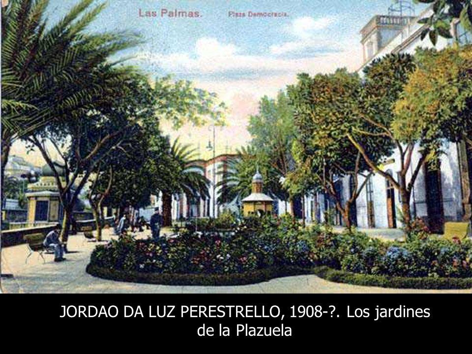 JORDAO DA LUZ PERESTRELLO, despues de 1908. Estanque en forma de pera