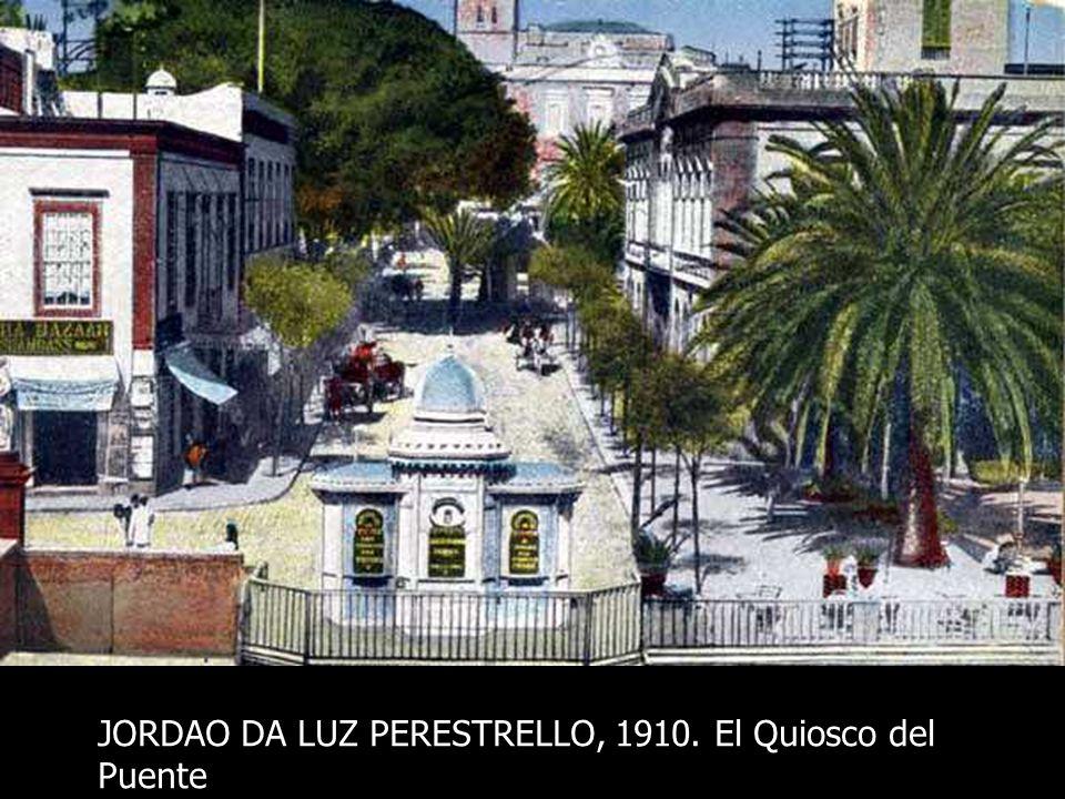 JORDAO DA LUZ PERESTRELLO, 1908-?. Los jardines de la Plazuela