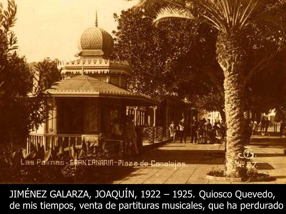 JORDAO DA LUZ PERESTRELLO, 1905 – 1910. EL QUIOSCO DEL PUENTE. EL PRIMER QUIOSCO