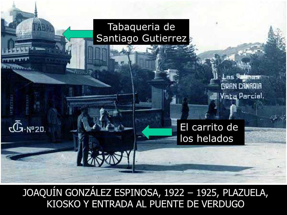 JIMÉNEZ GALARZA, JOAQUÍN, 1922 – 1925. Quiosco Quevedo, de mis tiempos, venta de partituras musicales, que ha perdurado