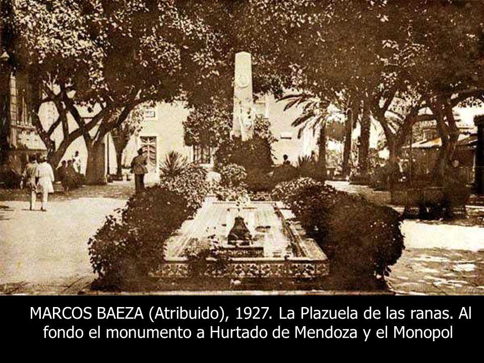 CURT HERRMANN, 1927. LA TERRAZA. A LA DERECHA EL NUEVO ESTANQUE