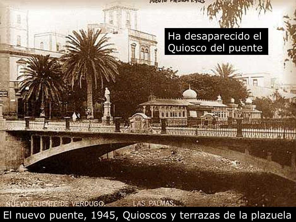 El nuevo puente de piedra, 1939, a la derecha, la plazuela Aquí estuvieron durante muchos años las oficinas de IBERIA