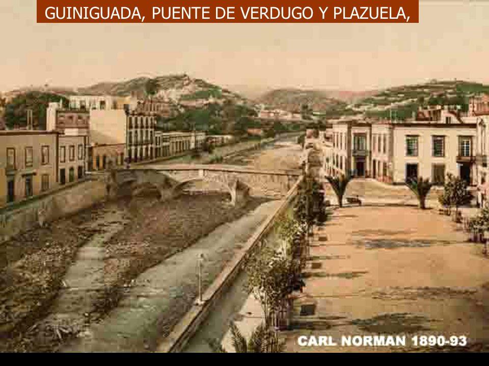 La plazuela del Puente (de Verdugo) fue objeto de repetidos cambios de denominación: plaza del Príncipe Alfonso desde 1858, plaza de la Democracia des