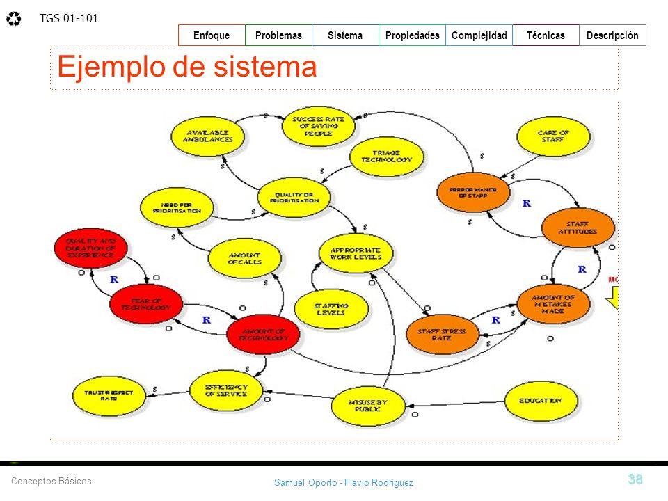 TGS 01-101 Samuel Oporto - Flavio Rodríguez 38 EnfoqueProblemasSistemaPropiedadesTécnicasDescripción Conceptos Básicos Complejidad Ejemplo de sistema