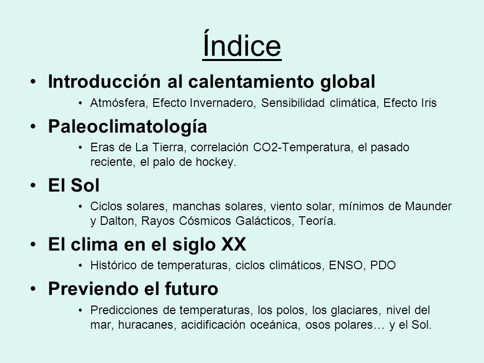Introducción al Calentamiento Global
