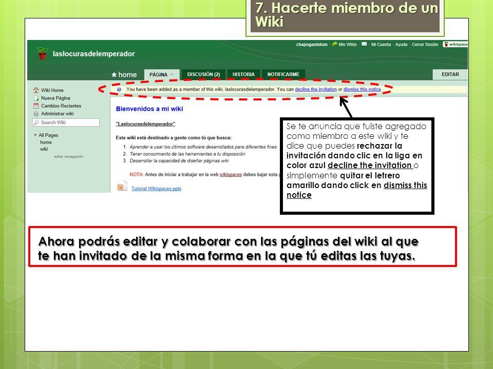 Ahora podrás encontrar también el nuevo wiki al que fuiste invitado en Mis Wikis y en Wikis Favoritos 7.