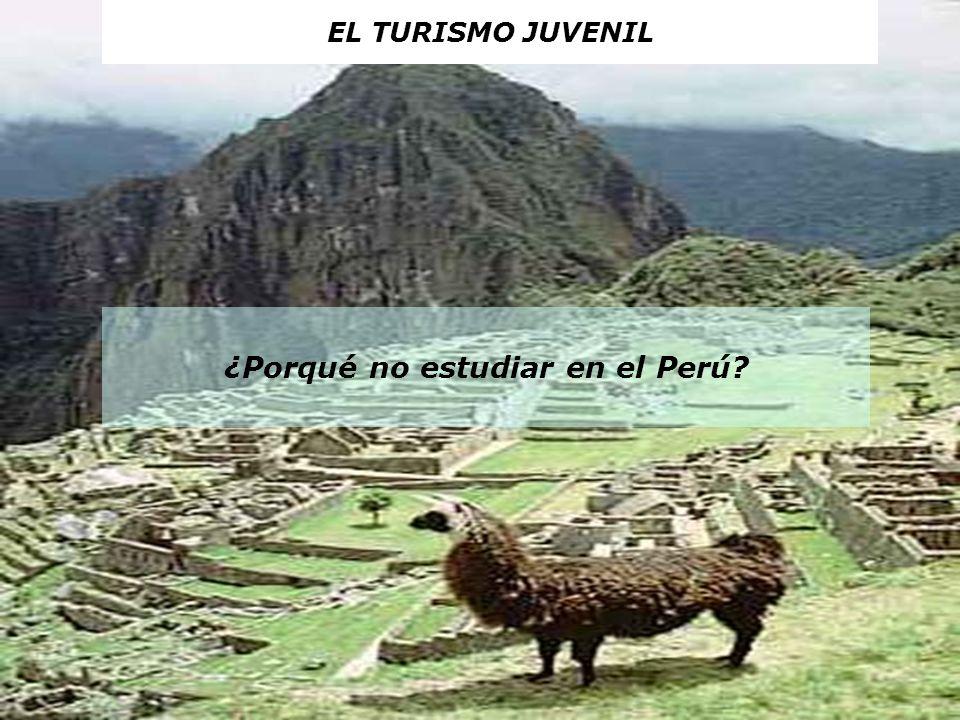 ¿Porqué no estudiar en el Perú? EL TURISMO JUVENIL