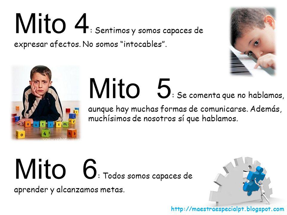 Mito 7 ¿Quién ha dicho que no podemos compartir el mismo cole y la misma clase.