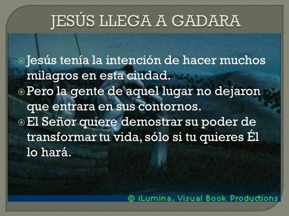 Jesús tenía la intención de hacer muchos milagros en esta ciudad.