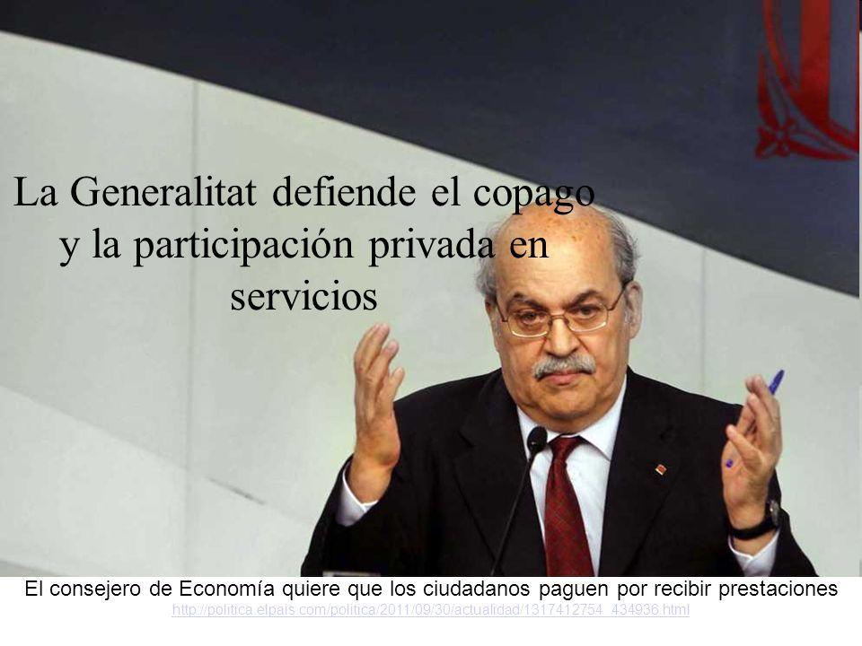 La patronal vol que el Govern privatitzi prestacions de salut http://www.publico.es/catalunya/400937/la-patronal-vol-que-el-govern-privatitzi-prestacions-de-salut http://www.publico.es/catalunya/400937/la-patronal-vol-que-el-govern-privatitzi-prestacions-de-salut La patronal sanitaria pide privatizar las prestaciones menos esenciales http://www.elpais.com/articulo/cataluna/patronal/sanitaria/pide/privatizar/pre staciones/esenciales/elpepiespcat/20111011elpcat_7/Tes http://www.elpais.com/articulo/cataluna/patronal/sanitaria/pide/privatizar/pre staciones/esenciales/elpepiespcat/20111011elpcat_7/Tes Los hospitales privados piden un catálogo de prestaciones básico y un sistema de copago http://www.lavanguardia.com/salud/20111010/54228572544/los-hospitales- privados-piden-un-catalogo-de-prestaciones-basico-y-un-sistema-de- copago.html http://www.lavanguardia.com/salud/20111010/54228572544/los-hospitales- privados-piden-un-catalogo-de-prestaciones-basico-y-un-sistema-de- copago.html