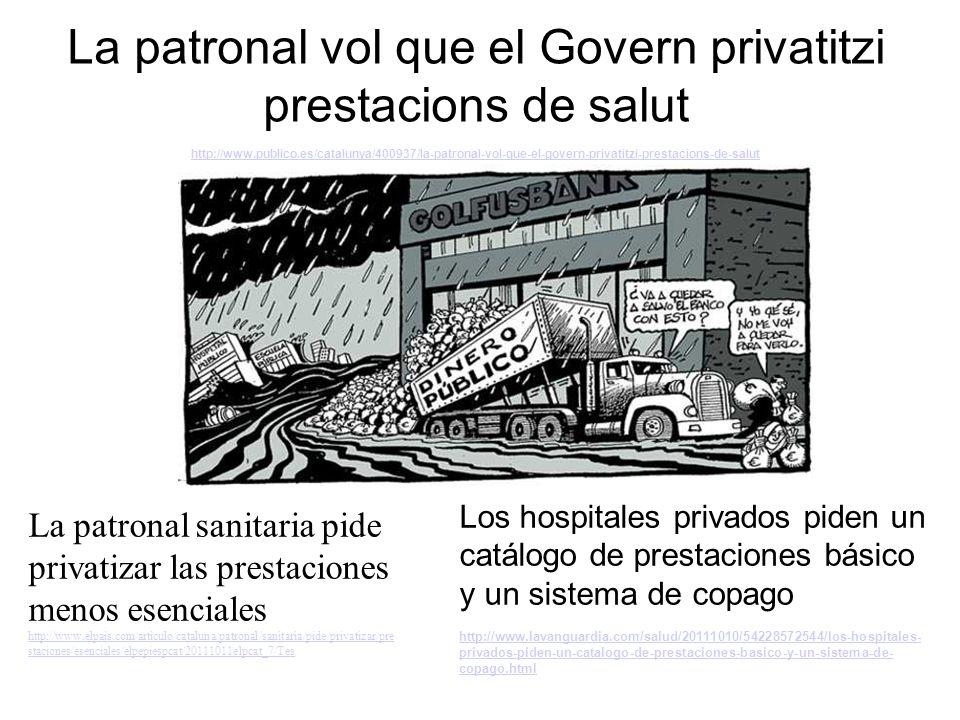 Cataluña prevé tres vías de entrada de capital para trocear la sanidad pública http://www.elpais.com/articulo/espana/Cataluna/planea/trocear/sanidad/publica/abrirla/capital/privado/elpepiesp/2 0111019elpepinac_10/Tes http://www.elpais.com/articulo/espana/Cataluna/planea/trocear/sanidad/publica/abrirla/capital/privado/elpepiesp/2 0111019elpepinac_10/Tes Inst itut alà de Cat la ut Sal