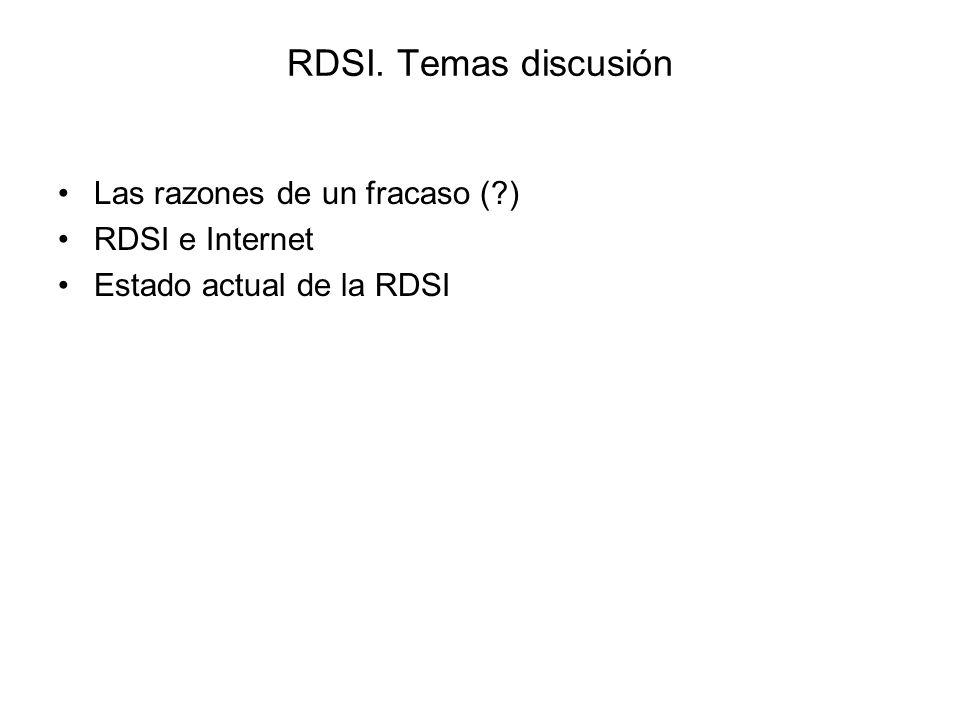 Conmutación de paquetes En canal D –Solo pueden ser internas de RDSI y con conexión semipermanente.