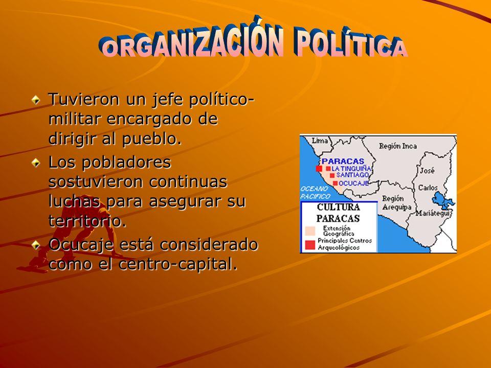 Los habitantes de Paracas se dedica- ron a dos actividades económicas im portantes: La agricultura: frijol, pallar, camote, yuca, lúcuma, tumbo, pacae, maíz, algodón.