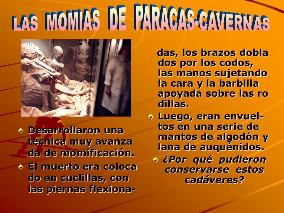 Paracas-Necrópolis destacó por sus fardos funerarios.