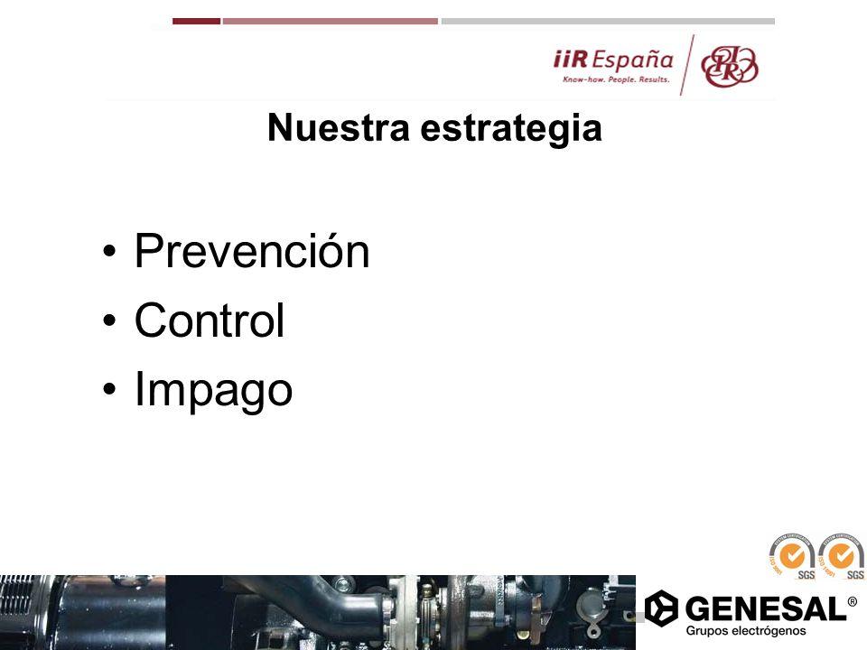 Nuestra estrategia Prevención Control Impago