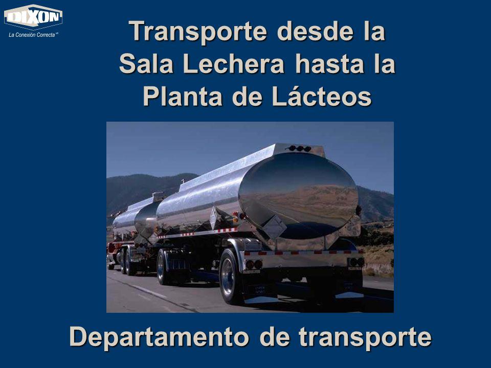 Transporte desde la Sala Lechera hasta la Planta de Lácteos Departamento de transporte