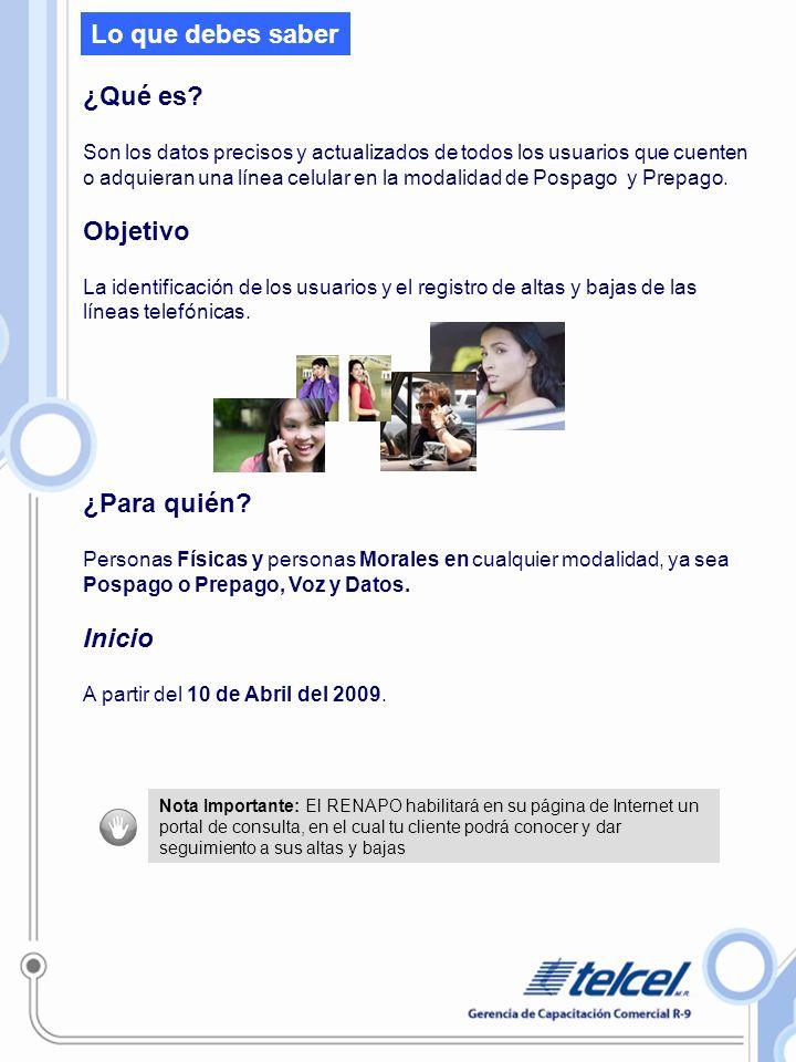 Micrositio (información general del RENAUT ) a partir del 10 de abril en www.telcel.com/registrocelularwww.telcel.com/registrocelular Usuario Nuevo: Es aquel que activó la línea a partir de la fecha de inicio del Registro.