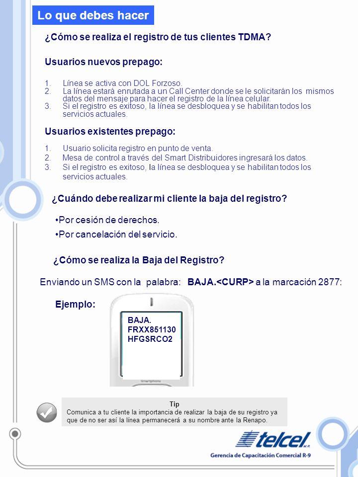 ¿Cómo se realiza el registro de tus clientes TDMA.