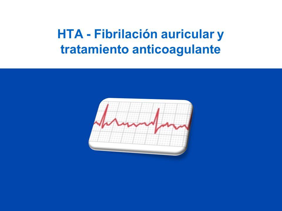 Riesgo de TE con AAS (SPAF-III Trial) Riesgo alto: 1 o más de: TAS >160; mujer >75, ictus previo, IC, FE<30% Riesgo moderado: HTA, ninguno de los anteriores Riesgo bajo: ninguno de los anteriores Stroke Prevention in Atrial Fibrillation Investigators, JAMA 1998; 279:1273